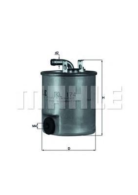 KL174 Фильтр топливный MB SPRINTER (901-904)/VITO (638) 2.2D