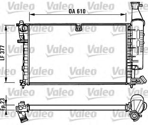 731296 Радиатор системы охлаждения CITROEN: BERLINGO (MF) 1.4 i (MFKFX)/1.6 16V (MFNFU)/1.8 i (MFLFX) 96-, BERLINGO фургон (M_)
