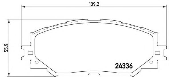 P83082 К-т торм. колодок Fr TO Auris 07-, RAV4 III 06-