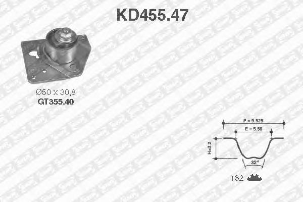 KD45547 Деталь KD455.47_pем.к-кт ГPМ! Renault E