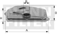 H27001 Фильтр АКПП MERCEDES W203/W211/W220