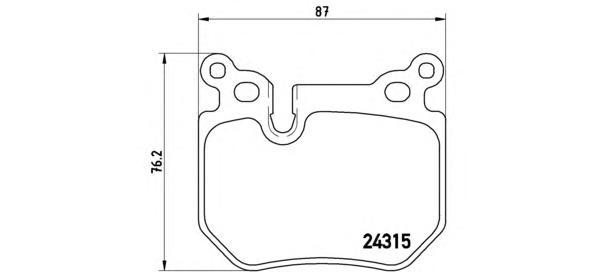 P06059 К-т торм. колодок Re BMW 5 E60-61