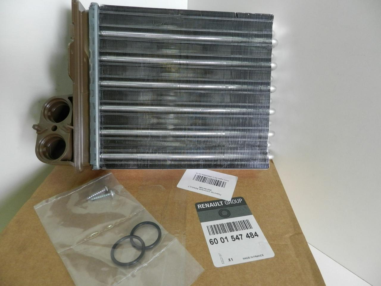 6001547484 Радиатор отопителя RENAULT LOGAN/DUSTER/SANDERO 1.2-2.0/1.5D 04-