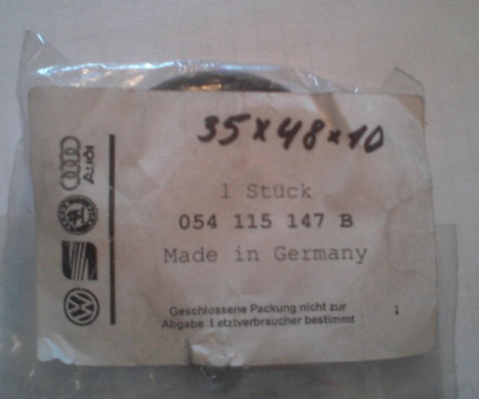 054115147B Сальник коленвала передний (35x48x10) / AUDI,VW,SEAT,SKODA 1.6-4.2