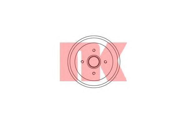 252534 Барабан тормозной / FORD Focus-I (203x44)  98~05