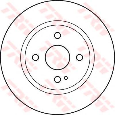 DF4966 Диск тормозной MAZDA 2 07- передний вент.D=258мм. d=55mm