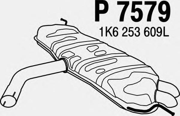 P7579 Глушитель VW GOLF 2.0 03-