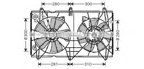 HD7516 Вентилятор радиатора HONDA ACCORD 2.0/2.4 03- огранич. DENSO
