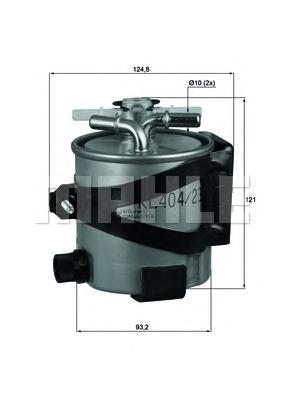 KLH4422 Фильтр топливный RENAULT MEGANE/SCENIC 1.5D/2.0D 05- (без датчика)