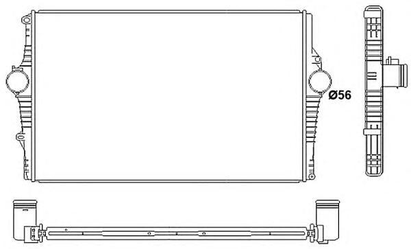 30249 Интеркулер VO S60,S80 2.4 D5