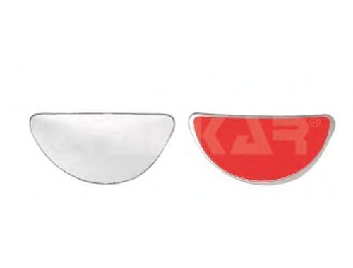 6481960 Стекло зеркала левого, сферическое
