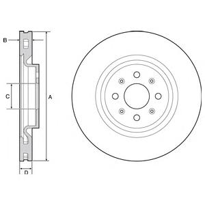 BG4456 Диск тормозной FIAT PUNTO 1.4 04- передний D=305мм.