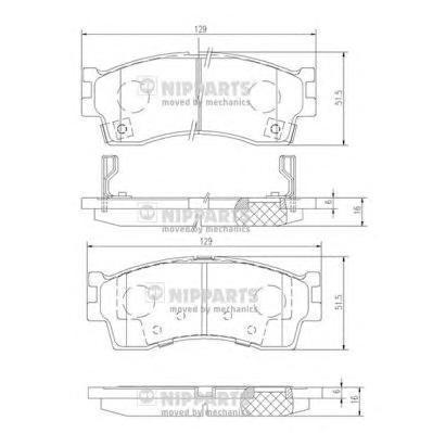 J3600308 Колодки тормозные KIA CLARUS 96-/RIO/SHUMA 00-/SPECTRA (ИЖ) передние