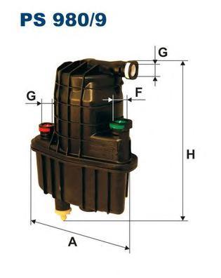 PS9809 Фильтр топливный RENAULT CLIO/MODUS 1.5D 04-