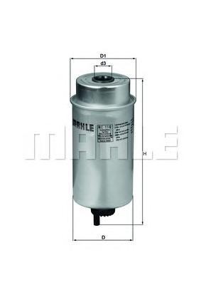 KC116 Фильтр топливный FORD TRANSIT 2.0D/2.4D 00-06