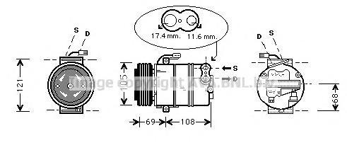 OLAK316 Компрессор кондиционера / OPEL Astra G, Corsa C, Meriva