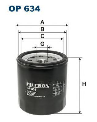 OP634 Фильтр масляный ISUZU TROOPER 2.8TD