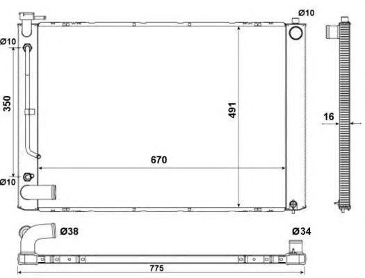 53681 Радиатор TO Harrier, LEX RS AUT. 02.03-