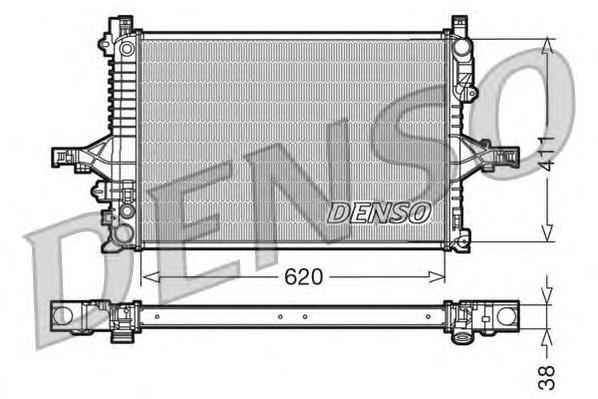 DRM33066 Радиатор системы охлаждения VOLVO: C70 I кабрио 2.0 T/2.3 T-5/2.3 T5/2.4 T/2.5 T 98 - 05 , C70 I купе 2.0 T/2.3 T-5/2.5