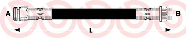 T61052 Тормозной шланг Re PSA C4,307 00- 210мм