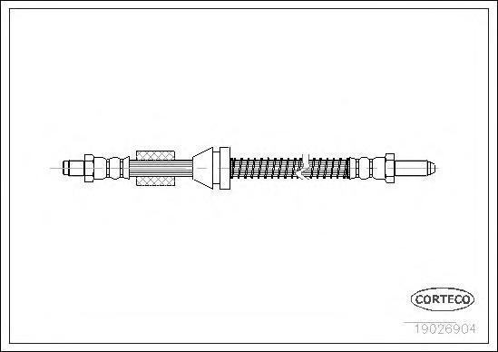 19026904 Шланг тормозной FORD