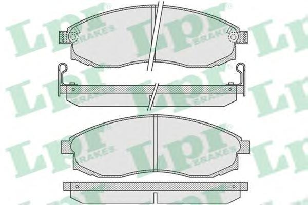 05P1030 Колодки тормозные NISSAN MAXIMA 91-00/MITSUBISHI L200 96- передние