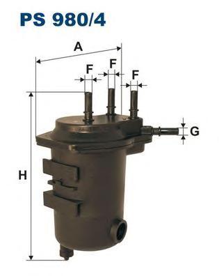 PS9804 Фильтр топливный RENAULT CLIO/KANGOO/NISSAN MICRA/KUBISTAR 1.5DCi 01-