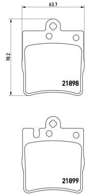 P50033 Колодки тормозные MERCEDES W210 2.0-5.0 97-02 задние
