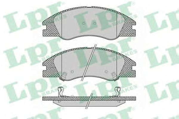05P1349 Колодки тормозные KIA CERATO 04- передние