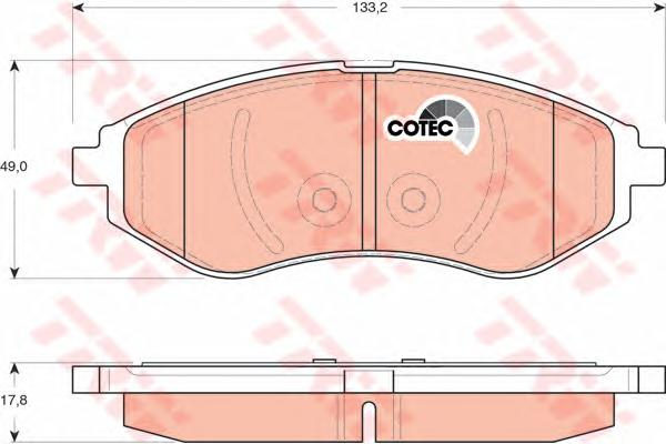 GDB3330 Колодки тормозные CHEVROLET AVEO 1.2-1.4 06- передние