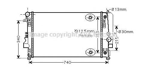 ms2460 Радиатор, охлаждение двигателя