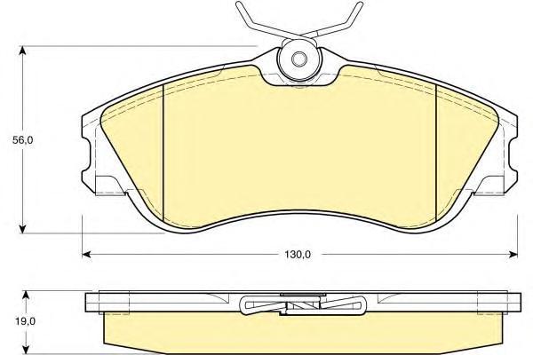 6112951 Колодки тормозные CITROEN BERLINGO/PEUGEOT PARTNER 96- передние без датч.