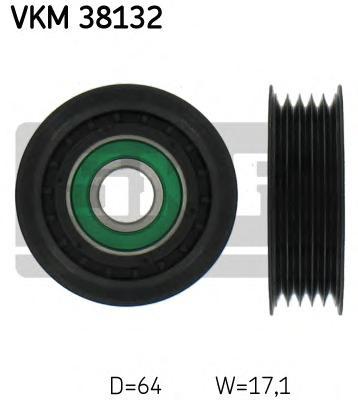 VKM38132 Ролик промежуточный поликлинового ремня генератора (без кондиционера) MB W168 A140/A160 97  без A/C