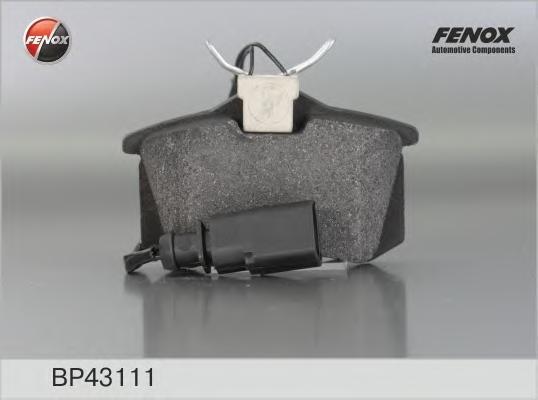 BP43111 Колодки тормозные FORD GALAXY 95-06/SEAT ALHAMBRA 96-10/VW SHARAN 95-(R15)задние