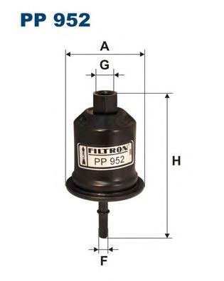 PP952 Фильтр топливный MITSUBISHI GALANT 2.0/2.5 96-03