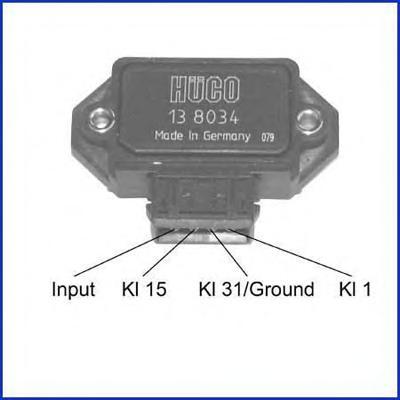 138034 Коммутатор системы зажигания OPEL: KADETT E COMBO (38, 48) 1.4 S/1.4 I/1.6 I 86-94, KADETT E ФУРГОН (37, 47) 1.4 I/1.6 I