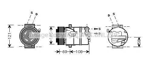OLAK426 Компрессор кондиционера OPEL: ASTRA G НАКЛОННАЯ ЗАДНЯЯ ЧАСТЬ (F48, F08) 1.4/1.8 16V 98-09, ASTRA H 1.8 04-, ASTRA H GTC
