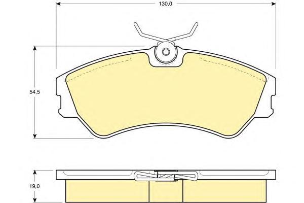 6108621 Колодки тормозные VOLKSWAGEN T4 R14 передние