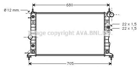 OLA2220 Радиатор OPEL VECTRA B 1.6-2.2/2.0TD/2.2TD A/T 95-03