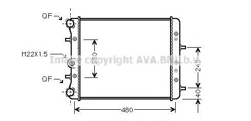 SAA2005 Радиатор VAG FABIA 1.2/1.4 00-