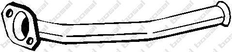 741015 Трубопровод выпускной PEUGEOT 206/206 CC 1.1-1.6 98-