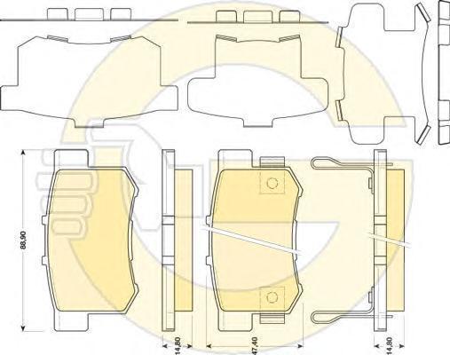6134479 Колодки тормозные HONDA LEGEND III 3.5 06- задние