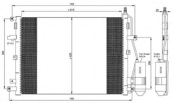 35876 Конденсер VO XC90 02-10