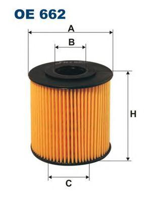 OE662 Фильтр масляный VOLVO S40/S70/S80/XC90/V40/V70 1.6-4.4