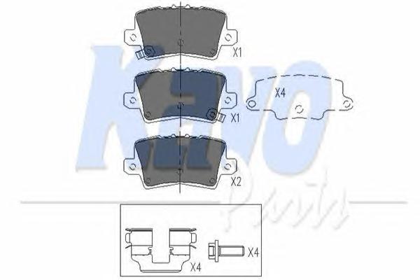 KBP2014 Колодки тормозные HONDA CIVIC VIII Hatchback 06- задние