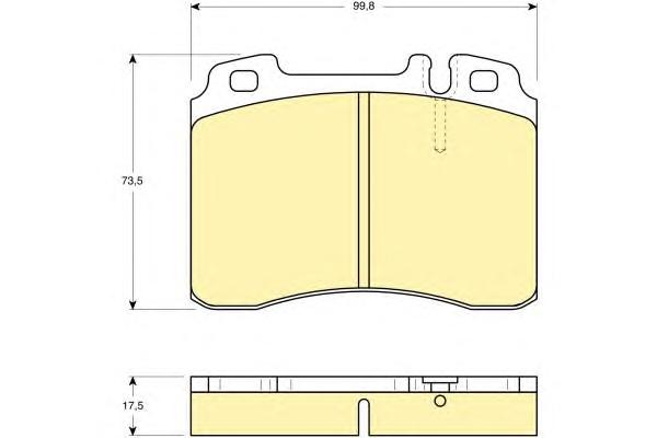 6109622 Колодки тормозные MERCEDES W124/W210/R129 87-02 передние