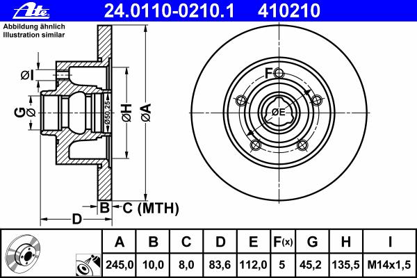 24011002101 Диск тормозной задн, AUDI: A4 1.6/1.8/1.8 T/1.9 TDI/2.4/2.5 TDI/2.6/2.8/2.8 24V 94-01, A4 Avant 1.6/1.8/1.8 T/1.9 DU
