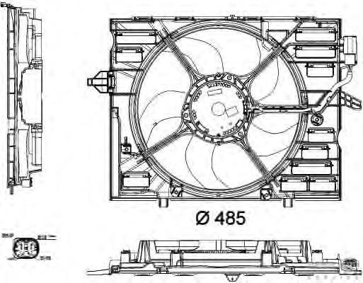 8EW351040441 Вентилятор радиатора BMW E60 -10