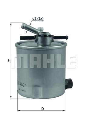 KL44027 Фильтр топливный NISSAN X-TRAIL 2.2D 03-/RENAULT MAXITY 07-