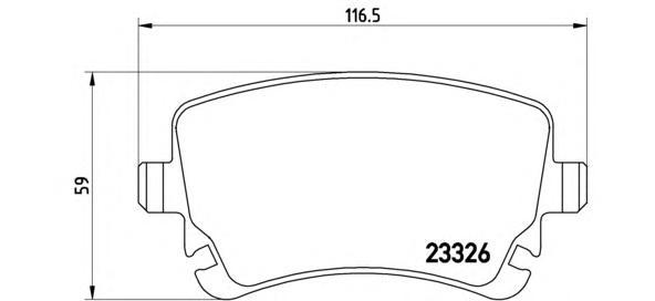 P85076 Колодки тормозные AUDI A4/A6/A8/VW MULTIVAN/T5/PHAETON задние